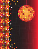 Disco ball. And abstract background royalty free illustration