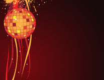 Disco ball. And abstract background Royalty Free Stock Image