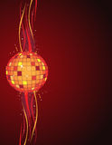 Disco ball. And abstract background stock illustration