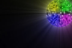 Disco Ball. Image of glowing disco ball Stock Photo