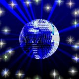 Disco ball. Illustration of a sparkling disco ball Royalty Free Stock Photography