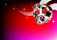 Disco ball. Colorful party background for text Royalty Free Stock Photography