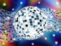 Disco ball on abstract background. Illustration Royalty Free Stock Photo