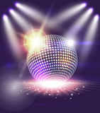 Disco ball. With abstract lights effect Vector Illustration