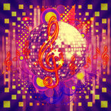 Disco ball abstract musical background Royalty Free Stock Images