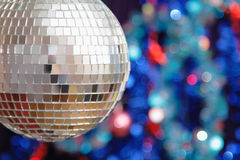 Disco ball against blurred background Stock Images