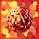 Disco ball with background Stock Photos