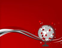 Disco Ball Background. Abstract illustration of a disco ball on a red background Stock Illustration