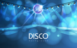 Disco ball background. Disco ball abstract neon background Royalty Free Stock Photo