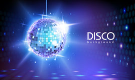 Disco ball background. Blue background Royalty Free Stock Photography