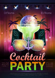 Disco ball background. Disco cocktail party poster Stock Photography