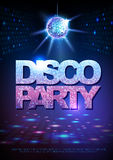 Disco ball background. Disco party poster. Neon. Disco ball background. Disco party poster Royalty Free Stock Image