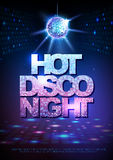 Disco ball background. Disco poster hot night. Neon Royalty Free Stock Image