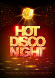 Disco ball background. Disco poster hot night. Stock Images