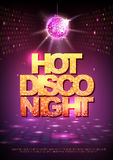 Disco ball background. Disco poster hot night. Neon Royalty Free Stock Photography