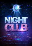 Disco ball background. Disco poster night club. Neon Royalty Free Stock Photo