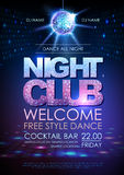 Disco ball background. Disco poster night club. Royalty Free Stock Photo