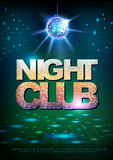Disco ball background. Disco poster night club Royalty Free Stock Images