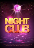 Disco ball background. Disco poster night club. Neon Stock Photos