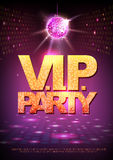 Disco ball background. Disco poster V.I.P. party. Neon Royalty Free Stock Images