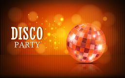 Disco ball background. Illustration of Disco ball background Royalty Free Stock Photo