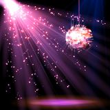 Disco ball background with light Royalty Free Stock Photo