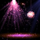 Disco ball background with light Stock Images