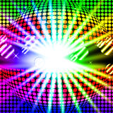 Disco Ball Background Means Bright Beams And Dancing vector illustration