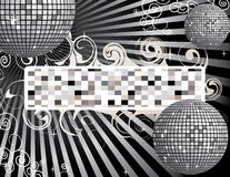 Disco ball background with place for your text Royalty Free Stock Image