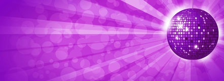 Disco ball background. Purple disco ball background horizontal Royalty Free Stock Images