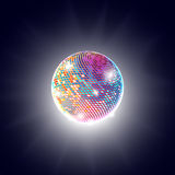 Disco ball background vector illustration Royalty Free Stock Photos