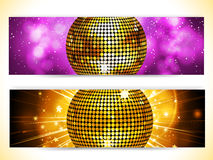 Disco ball banners Stock Images