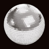 Disco ball on black Royalty Free Stock Photography