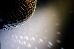 Disco ball with blank space for text Stock Images