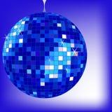 Disco ball blue royalty free stock photo