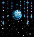 Disco ball blue Royalty Free Stock Photo