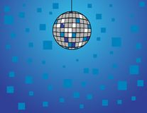 Disco Ball on Blue Stock Images