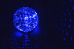 Disco Ball in Blue Royalty Free Stock Photos