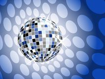 Disco ball on blue background Royalty Free Stock Photo