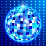 Disco ball on a blue background. Disco ball on blue background, vector art illustration stock illustration