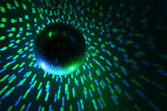 Disco ball blue - green Royalty Free Stock Photography