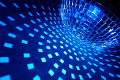 Disco ball with blue illumination Royalty Free Stock Image