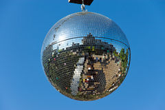 Disco ball with blue sky Royalty Free Stock Images