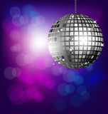 Disco ball on bokeh background Royalty Free Stock Photography