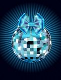 Disco ball with bow Royalty Free Stock Images
