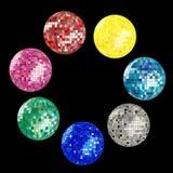 Disco ball collection royalty free stock photo