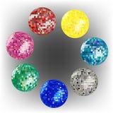 Disco ball collection 2 stock photos
