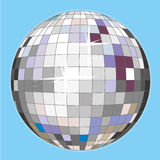 Disco ball. A colorful disco ball for a party night Stock Image