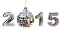 2015 with disco ball Royalty Free Stock Photography