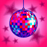 Disco ball comic book style vector illustration Stock Photos